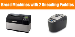 Bread machine with 2 kneading paddles
