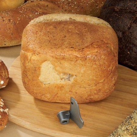 Breadman BK1050S Folding Blade Showing Bread Loaf Indentation