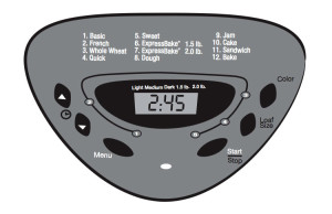 Sunbeam 5891 Breadmaker LCD Display Control Panel