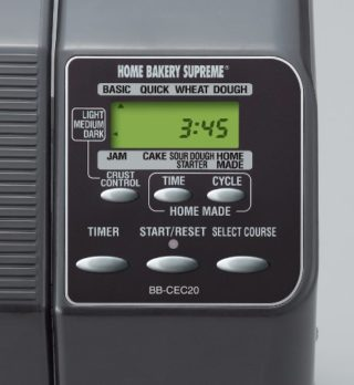 Zojirushi BB-CEC20 Home Bakery Supreme LCD Control Panel