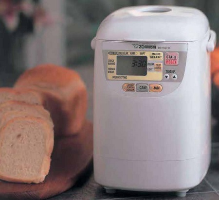 Zojirushi BB-HAC10 and sliced 1-lb bread loaf