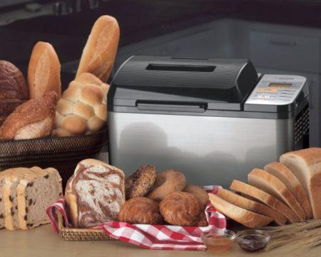 Zojirushi BB-PAC20 2-Pound Loaf Bread Maker Among Many Loaves