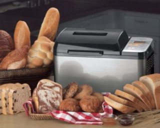 Zojirushi BB-PAC20 2-Pound Loaf Bread Maker Among Many Loaves