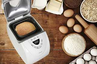 Rosewill R-BM-01 Bread Loaf Pan Milk Butter Seeds Oats Eggs Flour